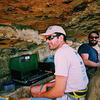 Ben and Alex grilling dogs on the High Exposure ledge on July 3, 2017. Thank you for the hospitality!