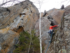 Rock Climbing Photo: Carter is starting the first pitch.  you can see t...
