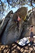 Rock Climbing Photo: A good mantle.