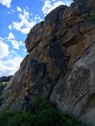 Rock Climbing Photo: TR set up on Wesley's Go-Te