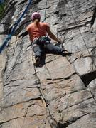 Rock Climbing Photo: Angela working the line