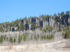 Rock Climbing Photo: Some of the Rock above the gravel pit