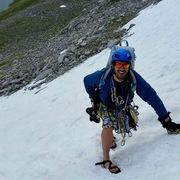 Rock Climbing Photo: The beta on the early season approach.