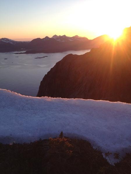Rock Climbing Photo: Walking down from Presten in Lofoten