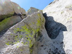 Rock Climbing Photo: Looking up the second half of Pitch 2 (this might ...