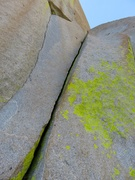 Rock Climbing Photo: A splitter crack that starts Pitch 4 (or Pitch 5 b...