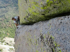 Rock Climbing Photo: Some fun exposed climbing on Pitch 6 (or Pitch 7 b...
