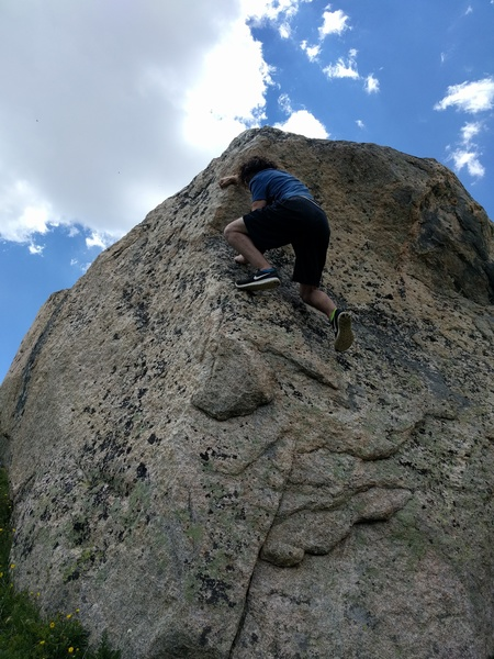 Rock Climbing Photo: Marshall sticking the crux.