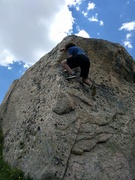 Marshall sticking the crux.