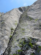 Rock Climbing Photo: Corner starting off Pitch 3. This took small cams ...
