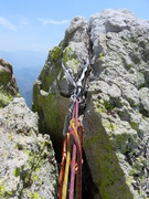 Rock Climbing Photo: Rap anchor on top of The Wizard.