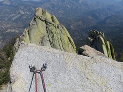 Rock Climbing Photo: Rap bolts on top of summit spire.