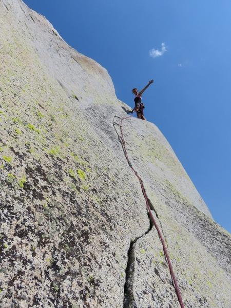 Rock Climbing Photo: Climbing the summit spire.