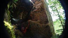 Rock Climbing Photo: Sending Tetanus!