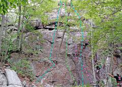 Rock Climbing Photo: Top Shelf low L side A. Left Bookend B. Cartwhee...
