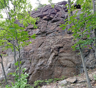 Rock Climbing Photo: Top Shelf high R routes b