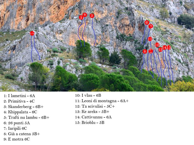 Rock Climbing Photo: route line