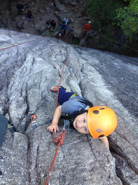 Rock Climbing Photo: Jack Reardon, age 3, crushing Little Spark