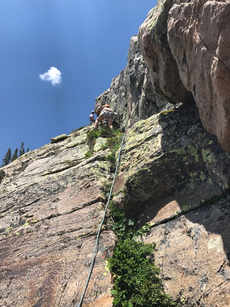 Rock Climbing Photo: Seconding the route.