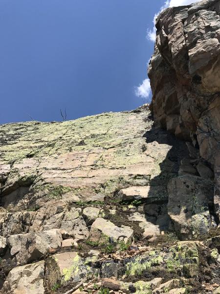 Rock Climbing Photo: Near the topout.