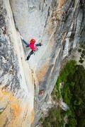 Rock Climbing Photo: Climbing on Final Frontier, FiFi Buttress, Yosemit...
