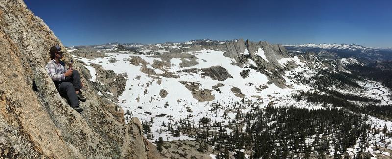 Rock Climbing Photo: Midway up the ridge