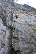 Rock Climbing Photo: Holey Shit (5.9+)