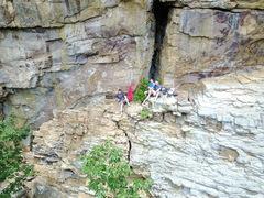 Rock Climbing Photo: arete butler with the boys