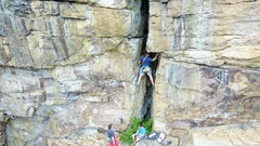 Rock Climbing Photo: pitch 2 arete butler