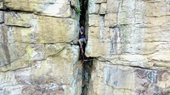 Rock Climbing Photo: in the chimney