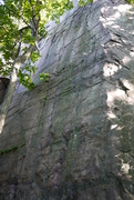 Rock Climbing Photo: The wall.  First half is vertical then it slabs ou...