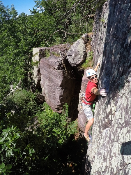Rock Climbing Photo: Nowhere Man.  Desperate slopey holds with bad feet...