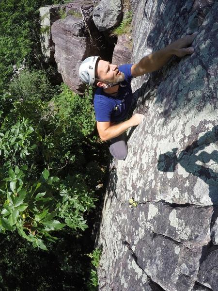 Final moves, Matt climbing
