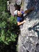 Rock Climbing Photo: Final moves, Matt climbing