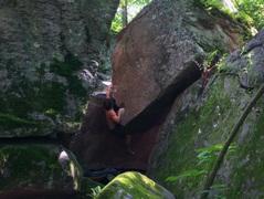 Rock Climbing Photo: Hittin' the jug