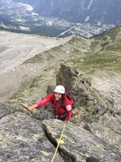 Rock Climbing Photo: Arête des Papillons on a busy day