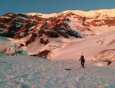 Heading to Liberty Ridge, Mt Rainier Carbon Glacier
