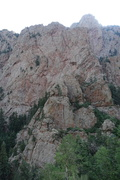 Rock Climbing Photo: Chaos Crag from the La Luz. The roof is on the rig...