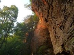 Rock Climbing Photo: Sunset on Grim Reaper