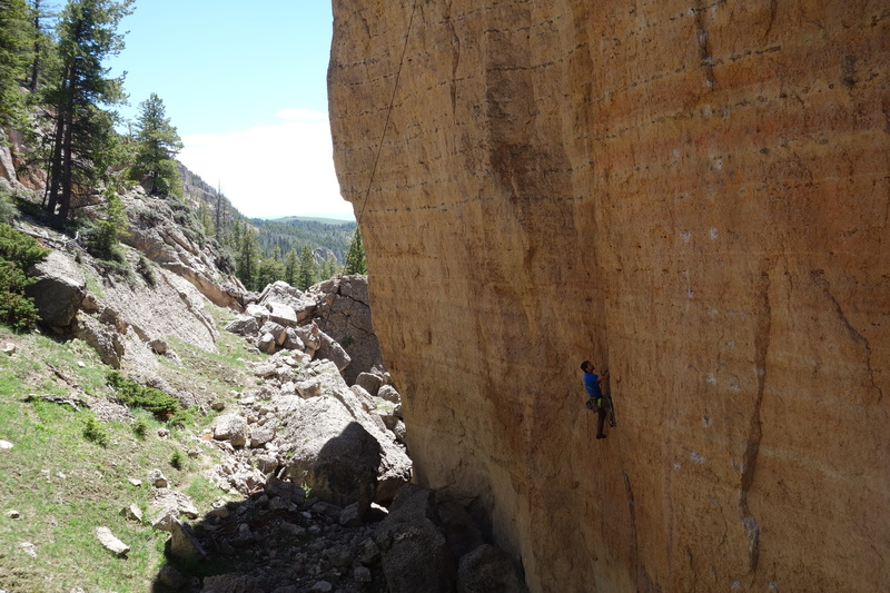 Rock Climbing Photo: Nathan Kutcher on his new route Raiders of the Los...