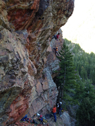Rock Climbing Photo: Greg Sun on-siting Steiger Sanction with IDNSPR in...