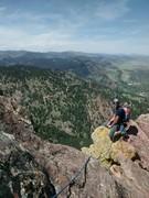 Rock Climbing Photo: Sean on the ridge.
