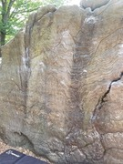 Rock Climbing Photo: Go direct, between the cracks.