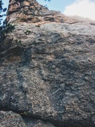 Rock Climbing Photo: Qinn leading up the slabby first pitch of the aptl...
