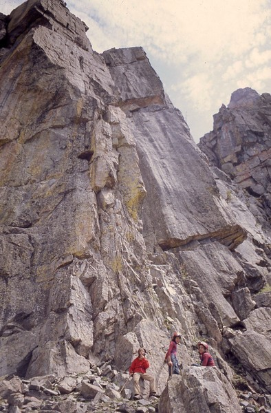 Rock Climbing Photo: This route went up the right buttress.