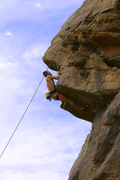 Rock Climbing Photo: Solid hand holds with a heel hook and you're there...