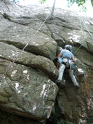 "Rock Climbing Photo: S Matz TR-ing.  She's still on ""CMC-Crack&quo..."