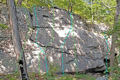 Rock Climbing Photo: Crazy Tree center L of crazy tree L. Doc M. Slee...