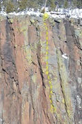 Rock Climbing Photo: Topo detail and belay locations