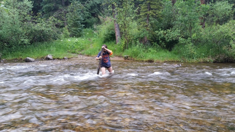 High creek in early July!